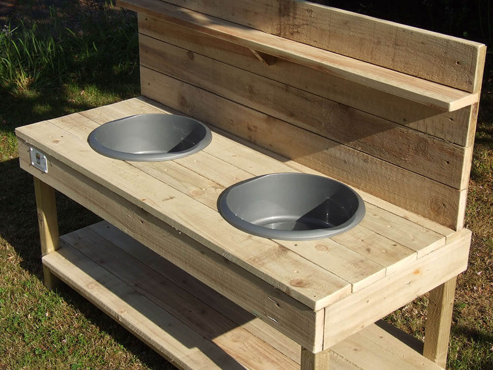 Side View of Mud Kitchen