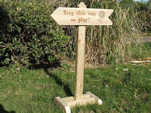Wooden Directions Sign Post